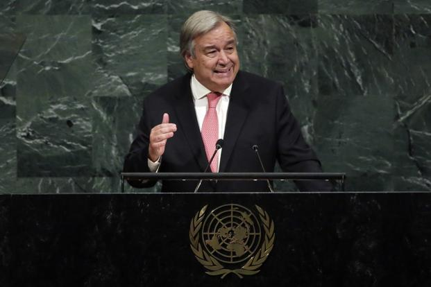 Guterres calls for unity in supporting migrants