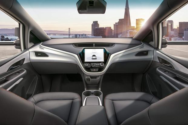 This undated photo obtained from General Motors shows the Cruise AV, designed to operate safely on its own, with no driver, steering wheel, pedals or other manual controls. Photo: AFP/ General Motors
