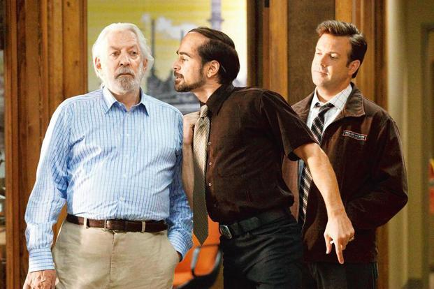 (from left) Donald Sutherland, Colin Farrell and Jason Sudekis in a still from the 2011 Hollywood film 'Horrible Bosses'.