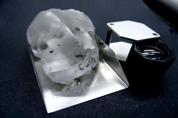 Gem Diamond shares rise sharply after 910-carat find