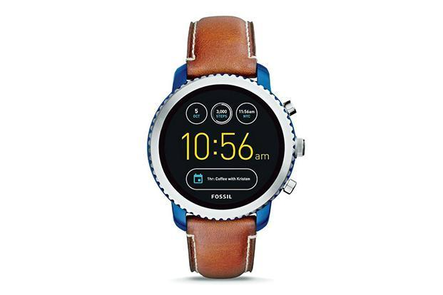 Fossil Q Explorist is available in five dial colours (black, stainless steel, smoked steel, gold and blue) and paired with various options of silicone, leather and metal bands.