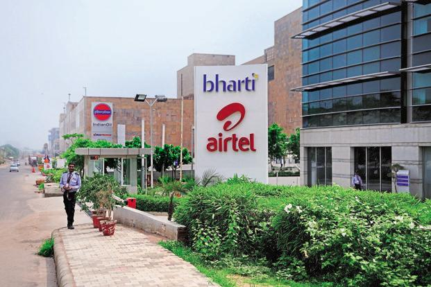 Bharti Airtel shares fell 1.17%, or Rs5.85, to Rs494.50 on a day the Sensex rose 0.51%, or 178.47 points, to 35,260.29. Photo: Pradeep Gaur/Mint
