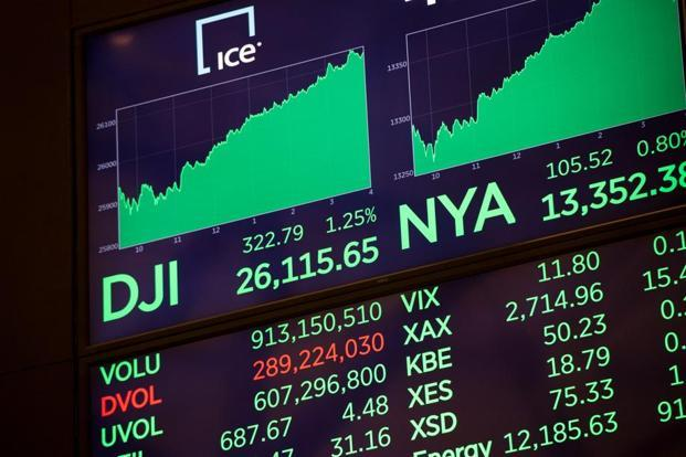 Blue chip index Dow Jones Industrial Average hit new records