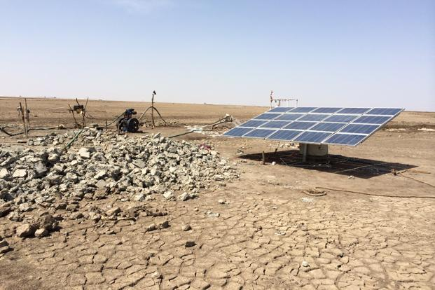 India has set a target of installing one million solar pumps by 2022 but till November 2017.