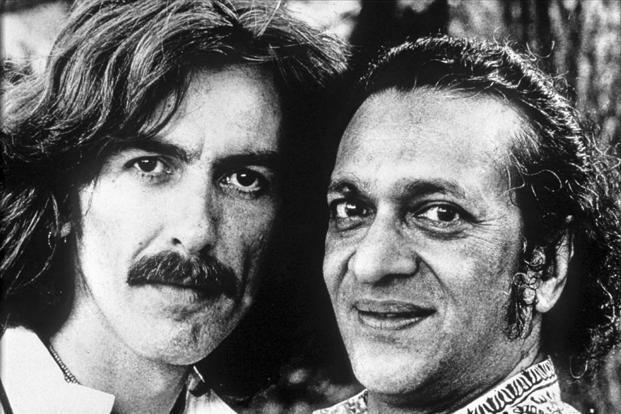 George Harrison And Ravi Shankar In 1974 Photo AP