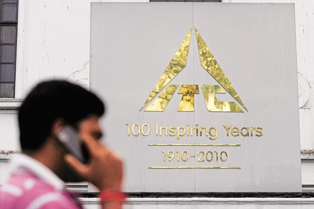 ITC shares were trading at Rs273.80 on BSE at 2.22 pm, up 0.35%, while the benchmark Sensex was trading 0.31% up at 35,368.18 points. Photo: Reuters
