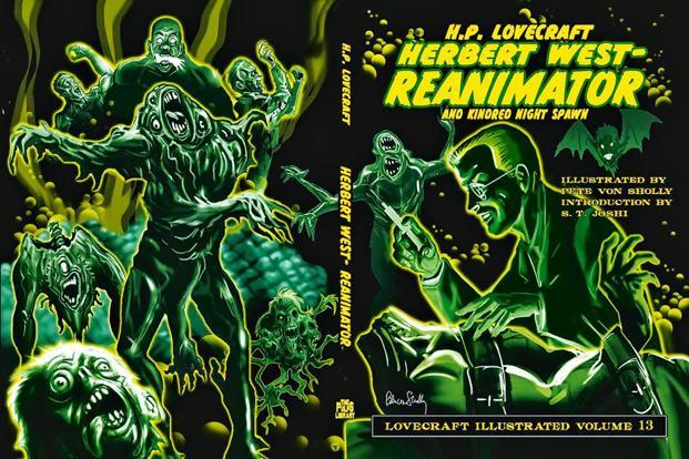 The jacket of the illustrated 'Herbert West-Reanimator'.