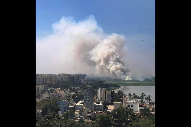 Bengaluru's Bellandur Lake catches fire again on Friday morning