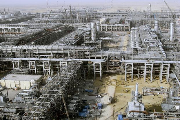 The picture shows the al-Khurais oil facility in Saudi Arabia. Saudi energy minister Khalid al-Falih said the oil market will return to balance in 2018. Photo: AFP