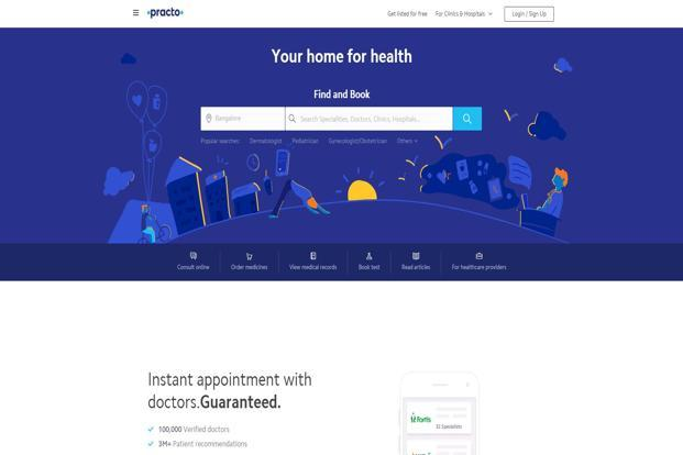 Practo's expenses rose 75% year-on-year to Rs402.66 crore, from Rs229.76 crore a year ago.