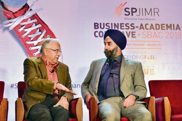 Mohanbir Sawhney (right), co-founder of Kellogg Innovation Network, with R. Gopalakrishnan, executive-in-residence at SP Jain Institute of Management and Research, in Mumbai. Photographs: Aniruddha Chowdhury/Mint