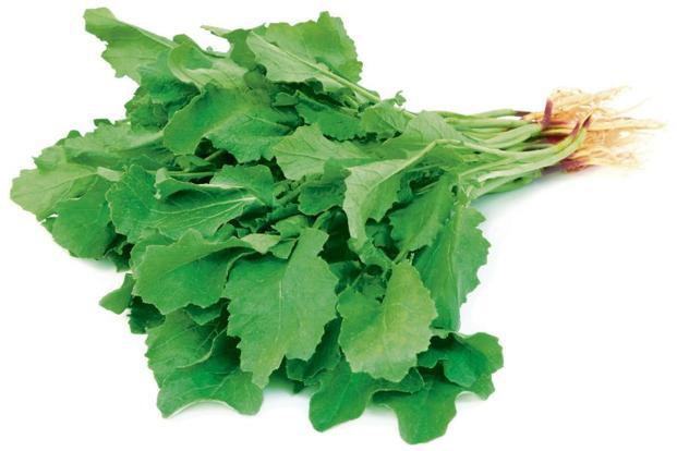 Mustard greens are loaded with vitamins A, C, K, carotenes and flavonoid antioxidants and calcium.