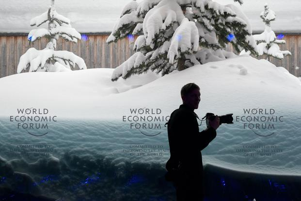 Locals say the snowfall in Davos this year has broken a 40-year record. Photo: AFP