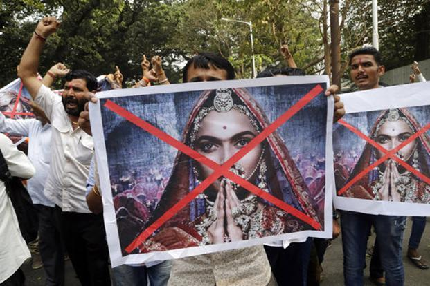 A file photo of protests against the release of 'Padmaavat'. Our federal structure limits states' power to interfere with the screening of films. Photo: AP