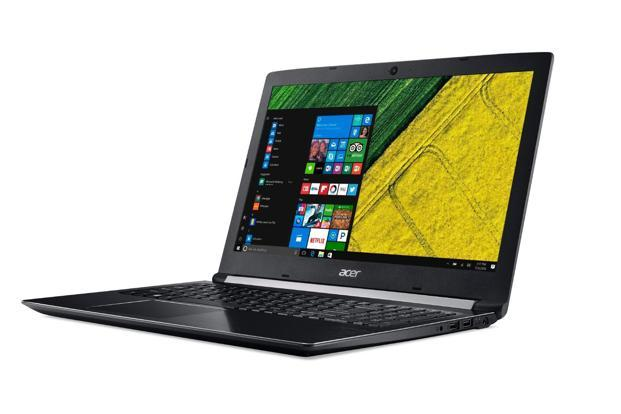 Acer Aspire A5 is a well-built notebook with metal at the top of the lid and in the frame of the keyboard