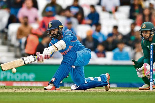 Dinesh Karthik has largely been unable to carry his creditable domestic form over to the international stage. Photo: Reuters