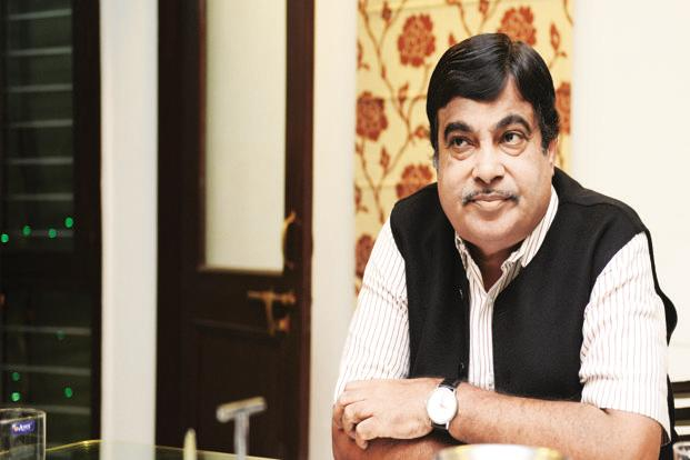 Transport minister Nitin Gadkari. Spread across eight hectares, the Ghazipur terminal will have a terminal building with a cargo handling capacity of 1.2 million tonnes per annum along with facilities such as storage areas and sheds. Photo: Ramesh Pathania/Mint