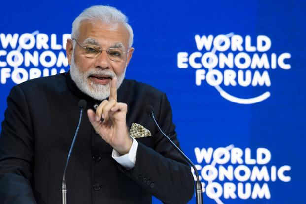 Perhaps the problem is that Narendra Modi's pitch fell between two stools. He wanted to both hard-sell India to his audience and to address the search for global solutions. Photo: AFP