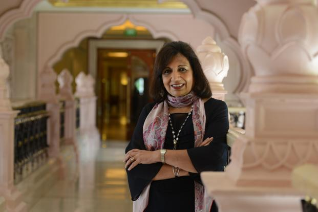 Biocon chairperson and managing director Kiran Mazumdar-Shaw. On Wednesday, Biocon shares fell 1.1% to Rs634.60 on BSE while Sensex gained 0.1% to 36,161.64 points. Photo: Hemant Mishra/Mint