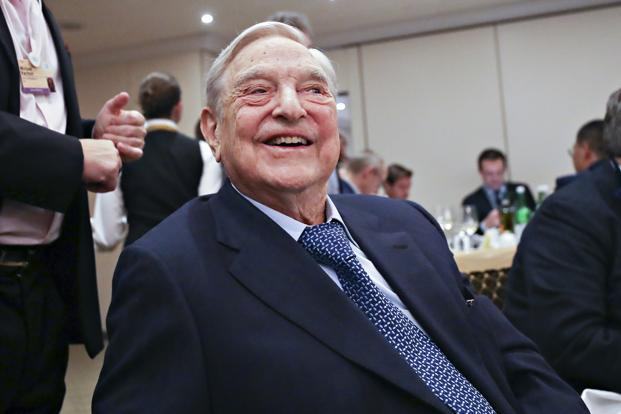 "George Soros said social-media companies Facebook and Google ""deliberately engineer addiction to the services they provide."" Photo: Bloomberg"