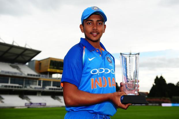 A file photo of Under-19 team captain Prithvi Shaw. Photo:Getty Images