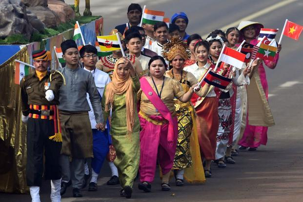 Flag Festival India: India Marks 69th Republic Day With All Asean Leaders In