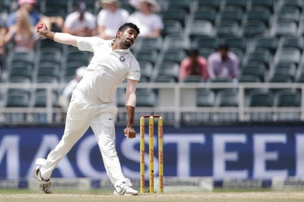 Jasprit Bumrah bowling during a Test match against South Africa. Photo: AFP