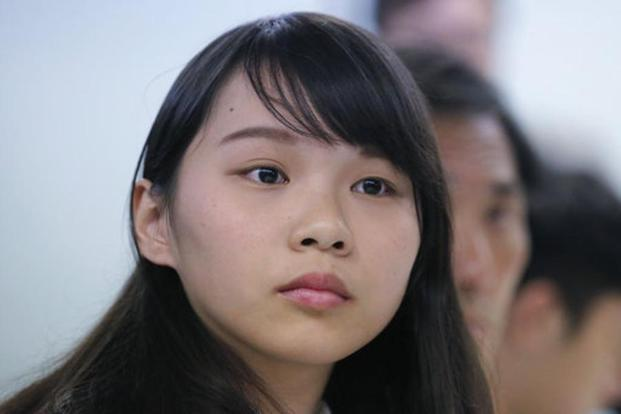 A file photo of Agnes Chow whose party Demosisto confirmed and condemned the disqualification by Hong Kong government in a Facebook statement. Photo: AP