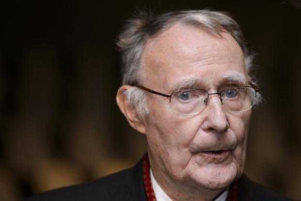 Ikea founder Ingvar Kamprad had built a global business empire with revolutionary flat-pack furniture. Photo: AFP