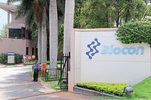 On Monday, shares of Biocon ended up 1.23% at Rs614.80 on the BSE, while benchmark Sensex index closed up 0.65% at 36,283.25 points.  Photo: Mint