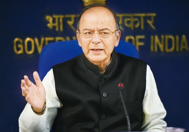 Finance minister Arun Jaitley will present Union Budget 2018 on 1 February amid reports of slowest economic growth in three years. Photo: HT