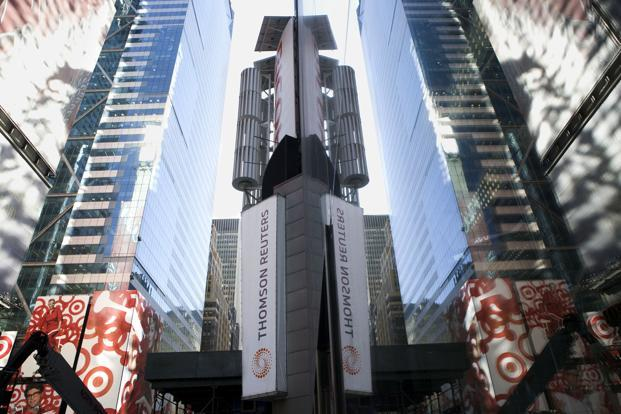 As part of any proposed partnership, Thomson Reuters would retain a significant interest in the financial and risk business and would retain full ownership of its legal, tax and accounting and Reuters News businesses. Photo: Bloomberg