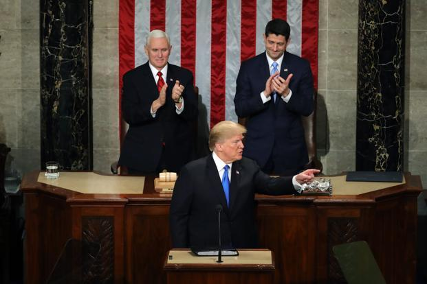 The White House posted a summary of the order on its website Tuesday just before Trump began his State of the Union address. Photo: AFP
