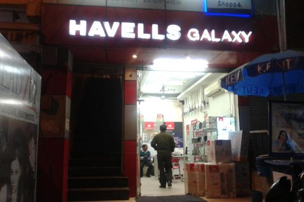 Havells India stock settled for the day at Rs522.05 on BSE, down 5.62% from the previous close. Photo: Preetha/Mint