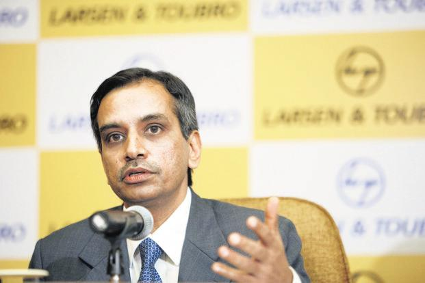 Larsen and Toubro CFO Shankar Raman. L&T's shares closed at Rs1,416.60 on BSE on Wednesday, down 0.87% from previous close. Photo: Bloomberg