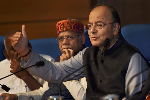 Finance minister Arun Jaitley. The government has sought to cushion the blow of LTCG tax by extending a 25% corporate tax rate for companies but with revenue under Rs250 crore. Photo: PTI