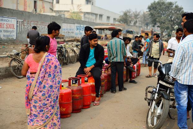 Ujjwala scheme provides financial support of Rs1,600 for each cooking gas connection to eligible households. Photo: Priyanka Parashar/Mint