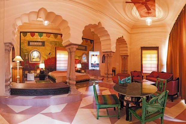 Anjolie Mahal by Anjolie Ela Menon. Photo courtesy Neemrana Hotels