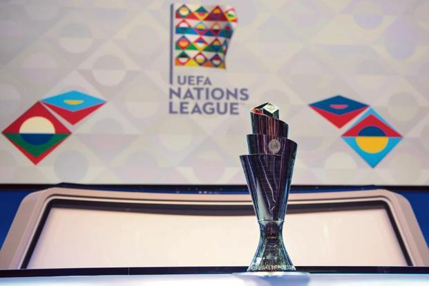 The Uefa Nations League trophy. Photo: AP