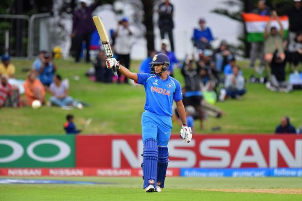 India's opening batsman Manjot Kalra scored an unbeaten 101.  India won the under-19 Cricket World Cup for the fourth time with an 8-wicket victory over Australia in Mount Maunganui.Photo: AFP