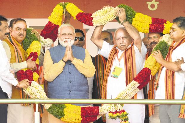 Modi in Bengaluru speaks of 'corrupt' Congress/Siddaramaiah government