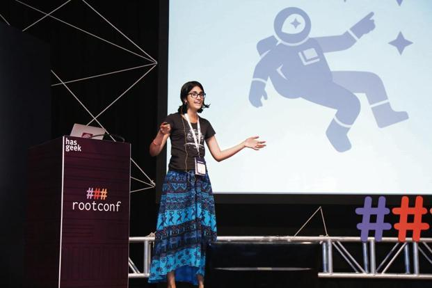 Aruna Sankaranarayanan, an open source developer. Photo: HasGeek