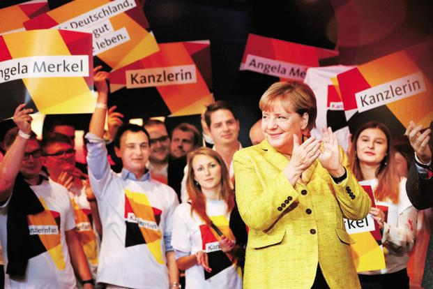 German chancellor Angela Merkel. Both conservatives and the centre-left Social Democrats (SPD) cited progress and said the remaining differences did not appear insurmountable. Photo: Reuters