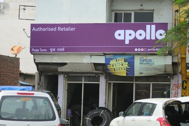 Apollo Tyres' stock was trading 1.01% down at Rs249.65 on BSE. Photo: Priyanka Parashar/Mint
