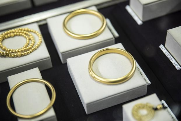 Spot gold prices was up 0.3% to $1,328.86 per ounce, as of 0444 GMT. Photo: Bloomberg