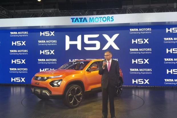 In the passenger vehicles segment as part of the two-architecture strategy, Tata Motors made the global unveiling of the 'H5Xconcept' from the 'Optimal Modular Efficient Global Advanced' Architecture – the 5-seater luxury SUV. Photo: Ramesh Pathania/Mint