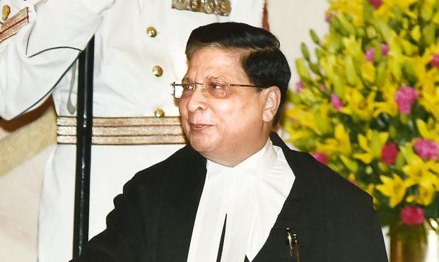 A file photo of Chief Justice Dipak Misra. The Supreme Court is hearing 13 appeals filed against the 2010 judgment of the Allahabad high court in four civil suits. Photo: HT