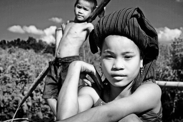 Two Chakma children in Tripura. Photo: Pablo Bartholomew