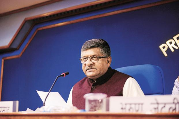 IT minister Ravi Shankar Prasad said a high-level meeting with around 50 participants including 5-6 directors of IITs, Nasscom and private entities was organized to lay out the road map to promote AI in the country. Photo: Pradeep Gaur/Mint