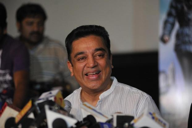A file photo of Kamal Haasan. The actor-turned-politician also announced to adopt a village each in every district of the state as part of his objective to rebuild Tamil Nadu.
